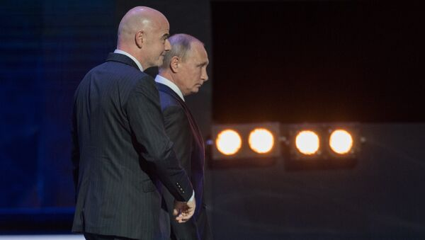 Президент РФ Владимир Путин и президент FIFA Джанни Инфантино - Sputnik Грузия