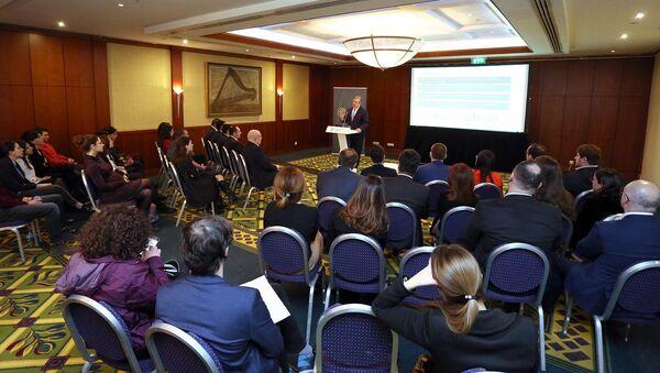 Георгий Квирикашвили на презентации компании Капитал Грузии - Sputnik Грузия