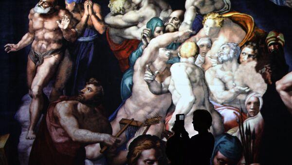 Показ мультимедийной выставки Микеланджело. Сотворение мира - Sputnik Грузия