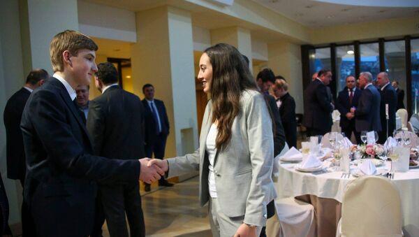 Дети президентов Украины и Грузии Николаем Лукашенко и Анна Маргвелашвили - Sputnik Грузия