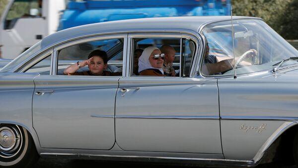 Классический автомобиль на одной из улиц Аммана, Иордания - Sputnik Грузия