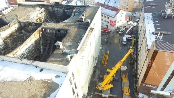 Последствия пожара в торговом центре Зимняя вишня в Кемерово - Sputnik Грузия