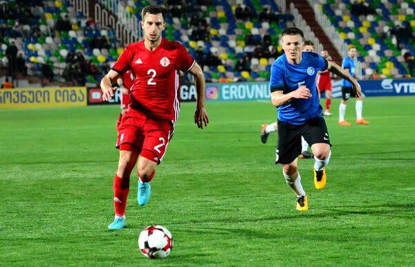 Несмотря на тактическое и техническое преимущество, сборная Грузии смогла реализовать не все возможности, которые были в ходе матча - Sputnik Грузия