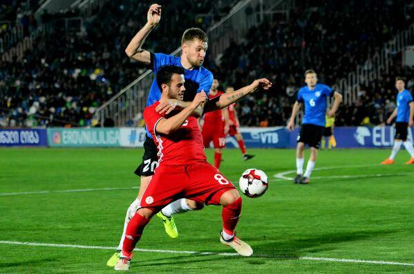Превосходство грузинской команды над сборной Эстонии было заметно на протяжении всей игры - Sputnik Грузия