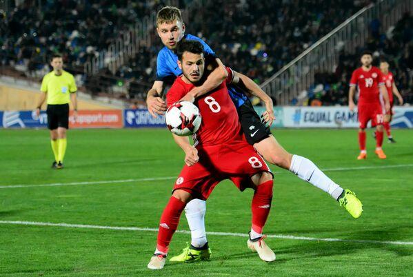 Вторая по счету победа в товарищеских матчах для игроков сборной Грузии - хороший стимул. Несколько дней назад, здесь же в Тбилиси, грузины обыграли команду Литвы со счетом 4:0 - Sputnik Грузия
