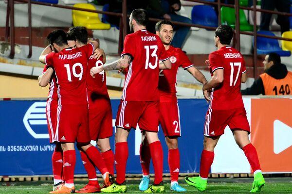 Тем не менее, два забитых гола в ворота эстонской сборной - хороший результат - Sputnik Грузия