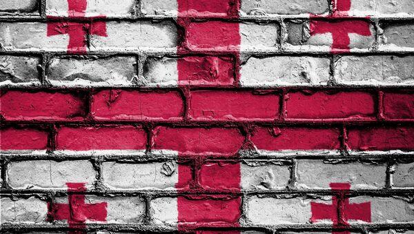 საქართველოს სახელმწიფო დროშა კედელზე - Sputnik საქართველო