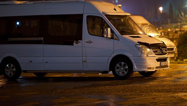 Mercedes-ის მარკის მიკროავტობუსები ავტოსადგომზე - Sputnik საქართველო