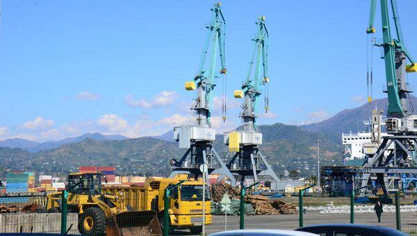 Портовые краны в Батумском порту - Sputnik Грузия