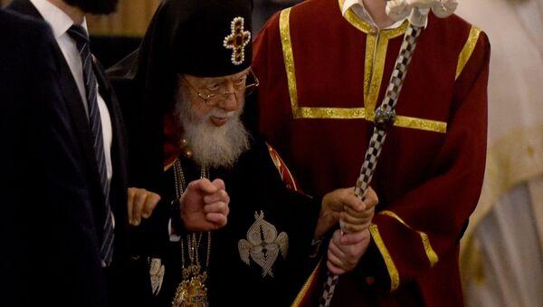 Католикос-Патриарх Всея Грузии Илия Второй во время Пасхальной службы в храме Самеба - Sputnik Грузия