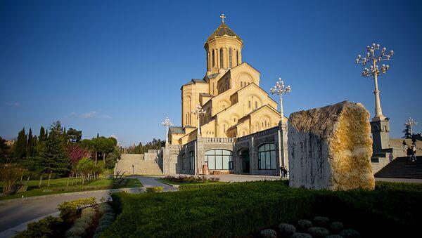 Храм Святой Троицы Самеба - Sputnik Грузия