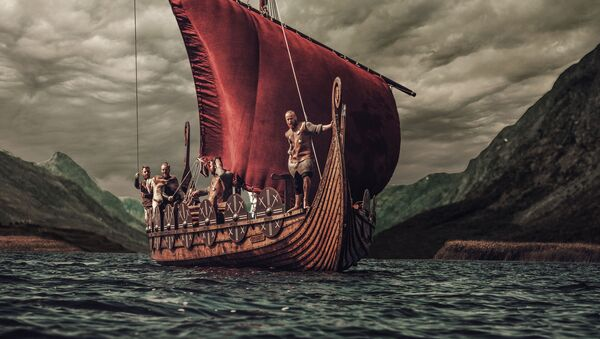Группа викингов на корабле  - Sputnik Грузия