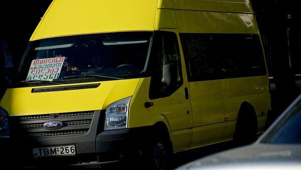 ყვითელი მიკროავტობუსი - Sputnik საქართველო