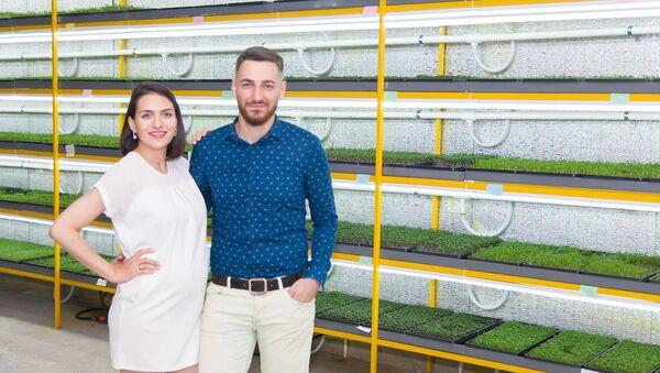 Основатели стартапа Марита Генебашвили и Леван Шатиришвили - Sputnik Грузия