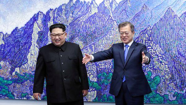 ჩრდილოეთ და სამხრეთ კორეის ლიდერები - Sputnik საქართველო