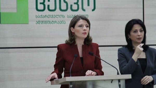Пресс-спикер ЦИК Грузии Анна Микеладзе - Sputnik Грузия