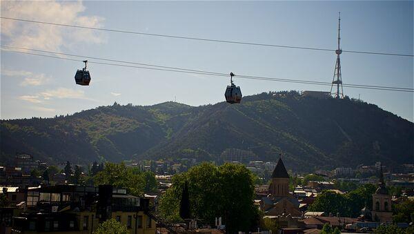 Гора Мтацминда и канатная дорога в Тбилиси - Sputnik Грузия