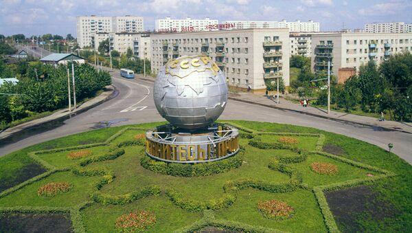 Монумент Глобус на улице Бекешской в городе Пенза - Sputnik Грузия