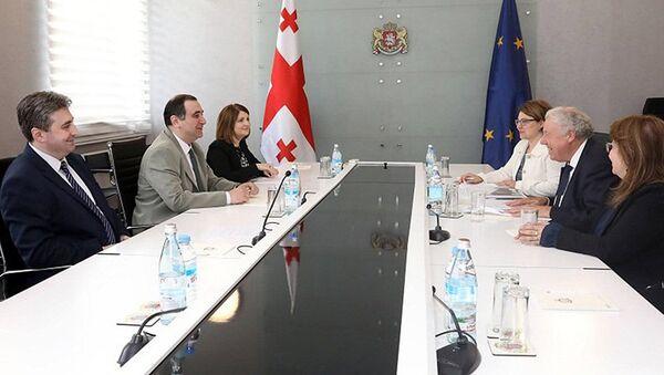 Встреча Михаила Чхенкели и Сиерда Клотинга - Sputnik Грузия