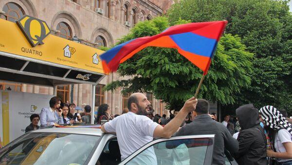Площадь Республики после выбора Никола Пашиняна премьер-министром Армении (8 мая 2018). Еревaн - Sputnik Грузия