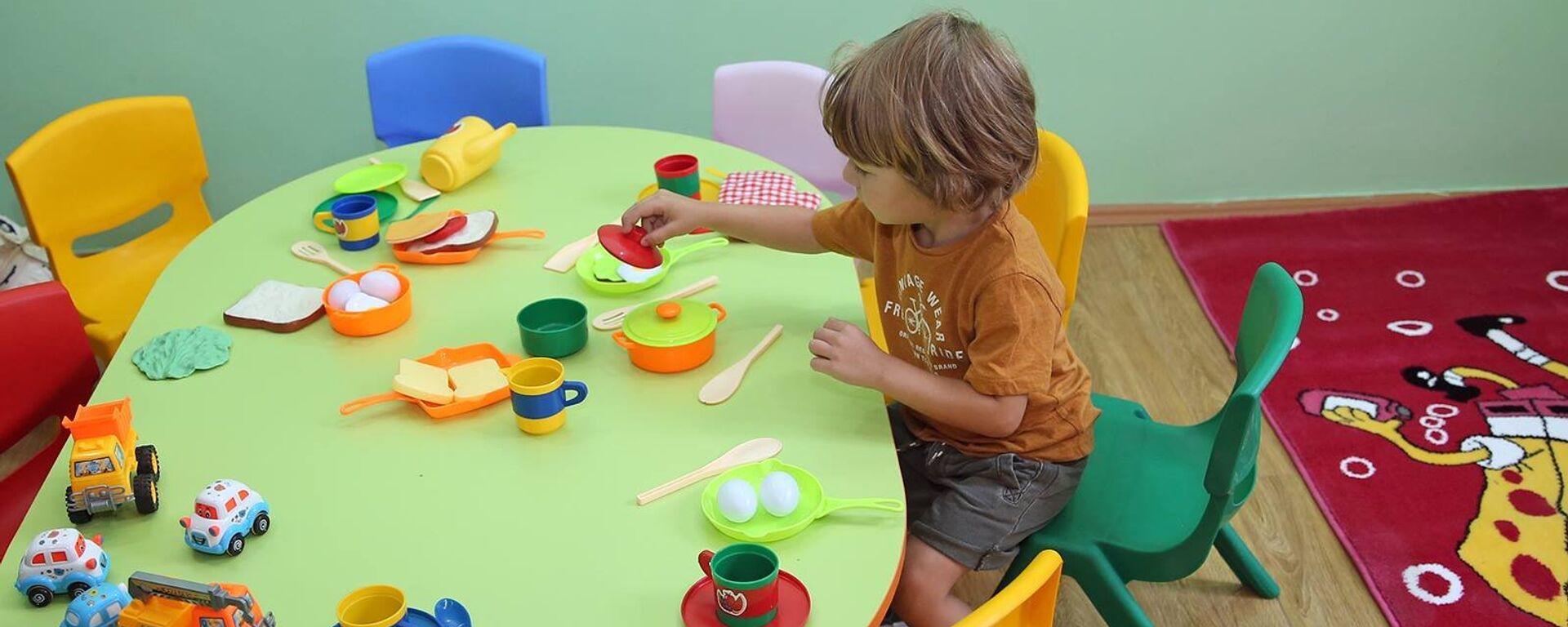 საბავშვო ბაღში - Sputnik საქართველო, 1920, 09.09.2020