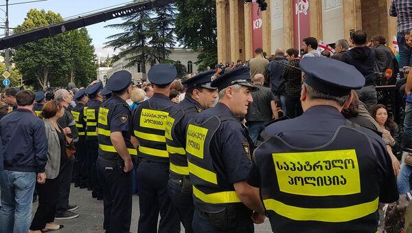 პოლიცია საპროტეასტო აქციაზე თბილისში - Sputnik საქართველო