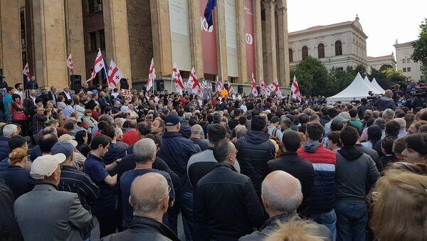 Акция протеста в столице Грузии - Sputnik Грузия
