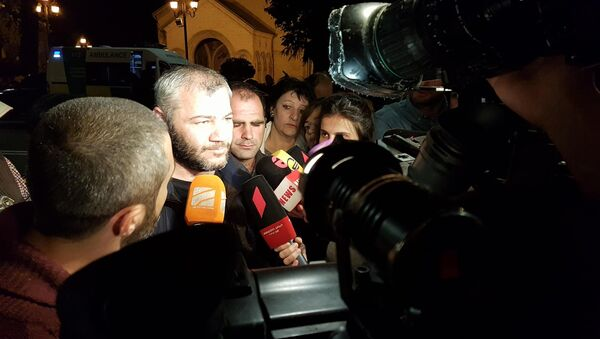 Заза Сиралидзе дает интервью журналистам - Sputnik Грузия
