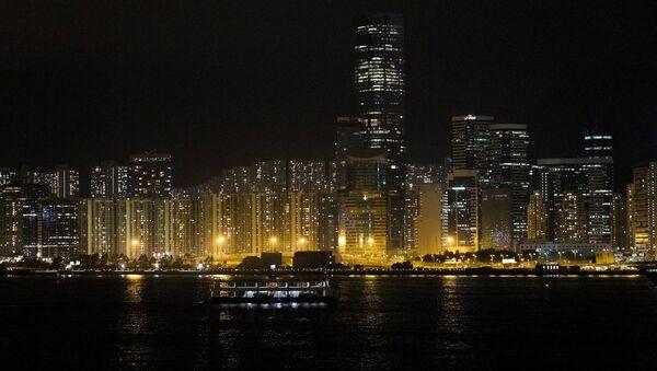 Вид на ночной Гонконг - Sputnik Грузия