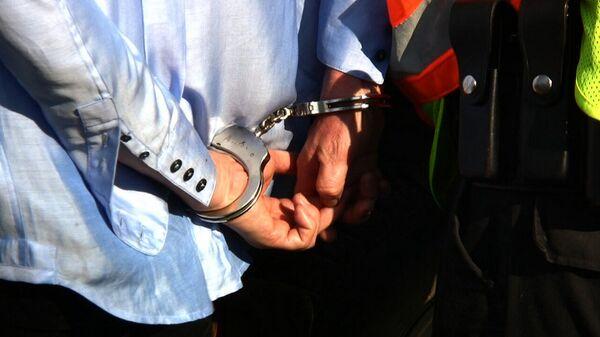 Человек в наручниках задержан - Sputnik Грузия