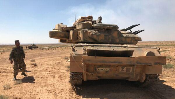Сирийские войска на границе с Иорданией в провинции Дераа - Sputnik Грузия