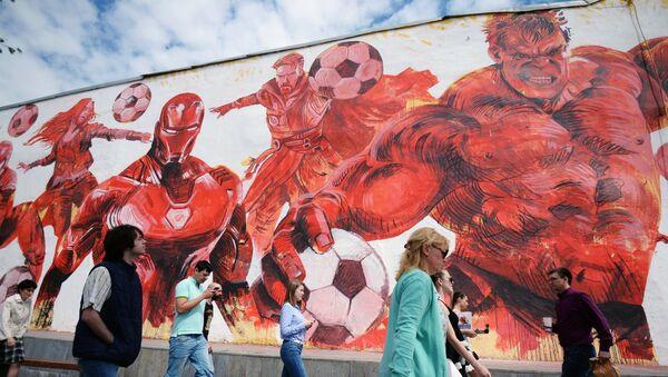 Граффити к ЧМ-2018 по футболу в Москве - Sputnik Грузия