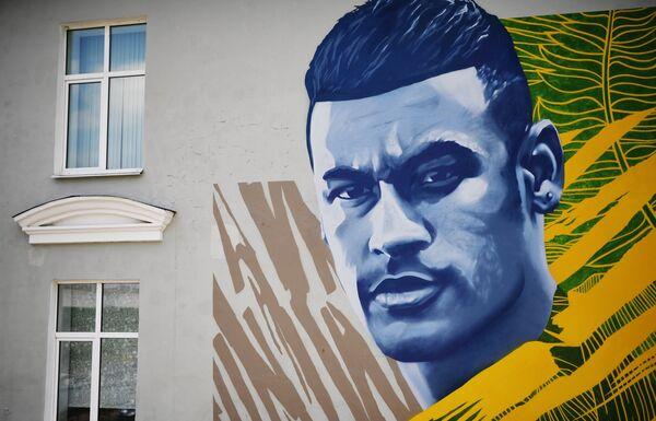 Нападающий сборной Бразилии по футболу Неймар обратил внимание на граффити с его изображением. На своей странице в Instagram форвард опубликовал фотографию граффити, сопроводив снимок смеющимися эмодзи словами: Что ты смотришь на меня, приятель? - Sputnik Грузия