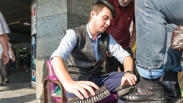 Рубрика:Журналист меняет профессию - чистильщик обуви - Sputnik Грузия