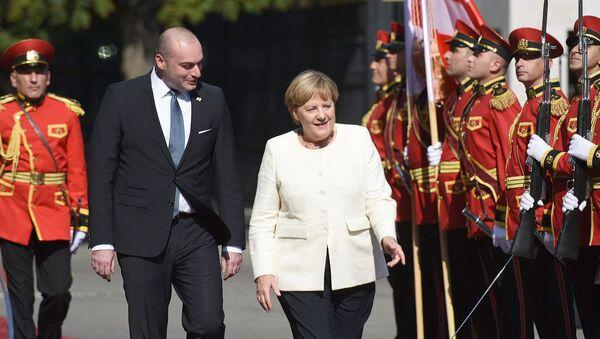 Ангела Меркель прибыла в Грузию - Sputnik Грузия