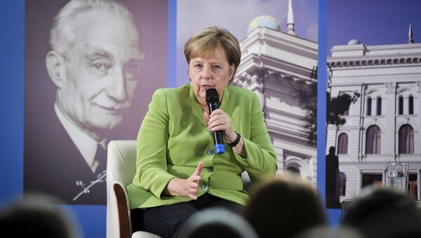 Канцлер Германии Ангела Меркель во время визита в Грузию - Sputnik Грузия