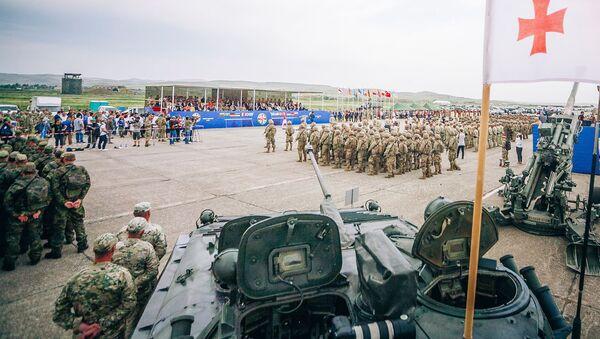Открытие центра боевой подготовки для грузинских военнослужащих - Sputnik Грузия
