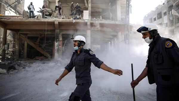 Активисты организации Белые каски в Сирии, фото из архива - Sputnik Грузия