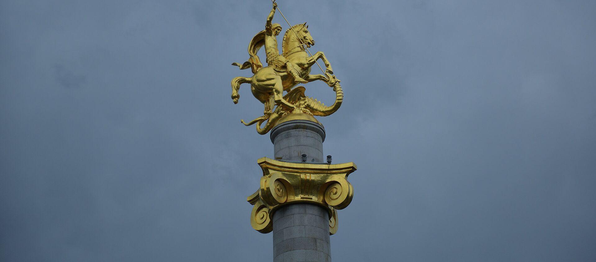 Памятник Святому Георгию на площади Свободы - Sputnik Грузия, 1920, 06.05.2021