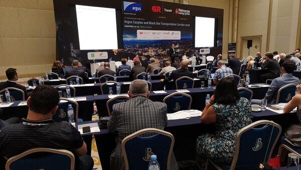 Международная конференция Argus Каспийско-Черноморский транспортный коридор 2018 - Sputnik Грузия