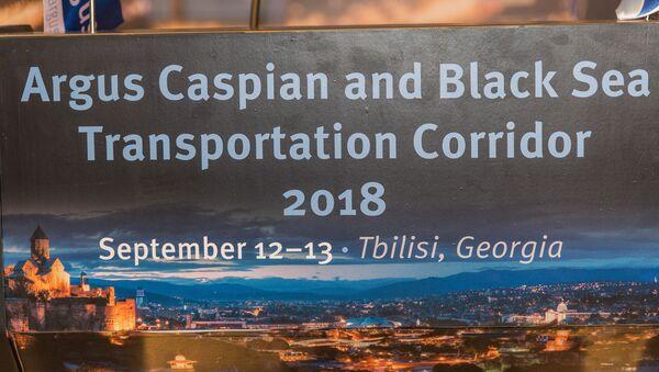 Конференция Argus Каспийско-Черноморский транспортный коридор  - Sputnik Грузия