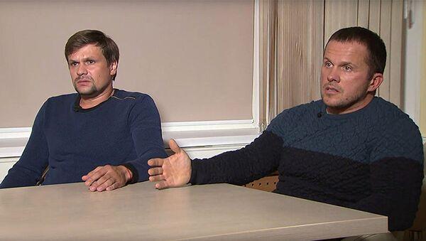 Подозреваемые Лондоном в отравлении Сергея и Юлии Скрипалей Александр Петров и Руслан Боширов - Sputnik Грузия