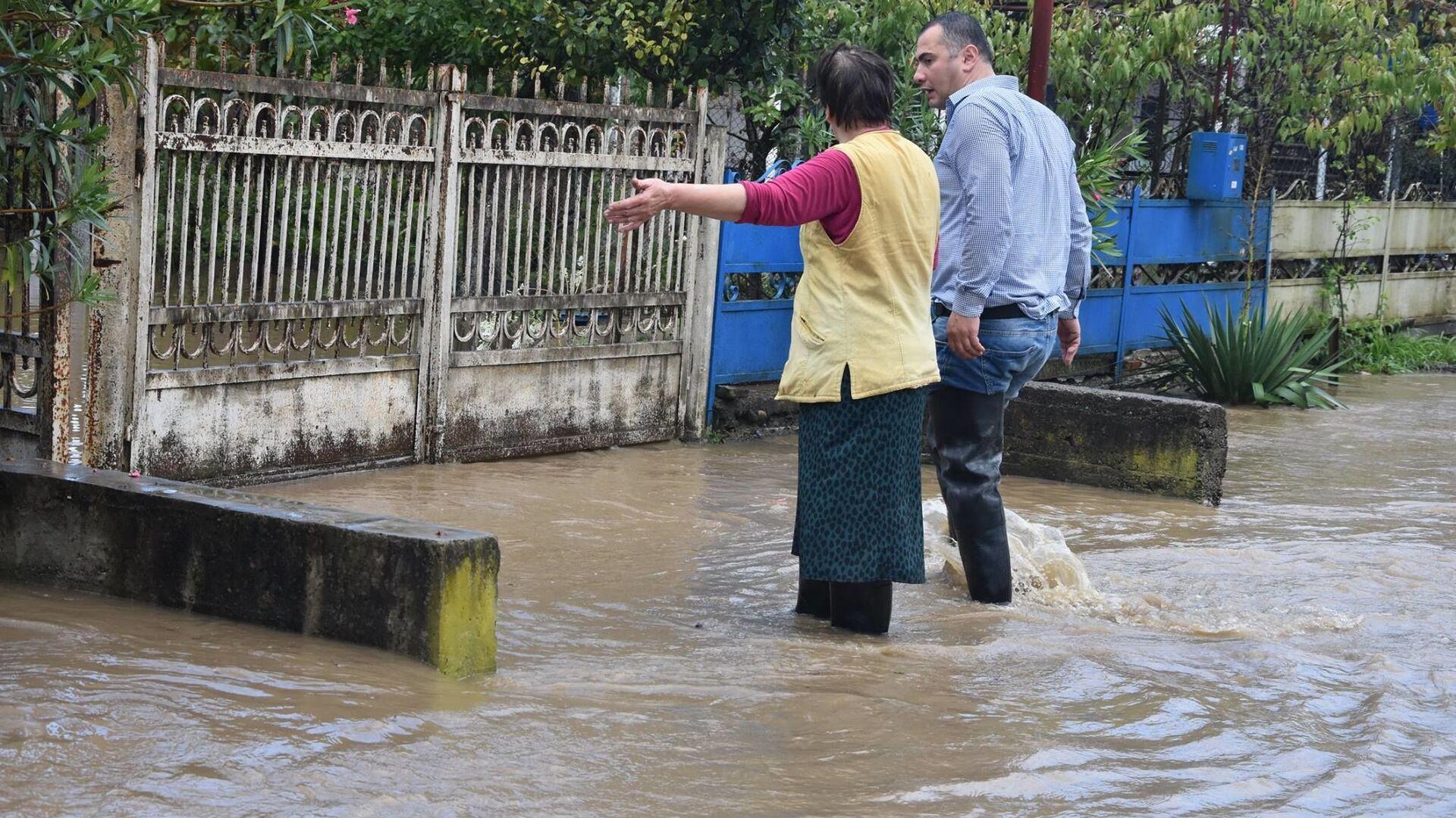 Наводнение в Ланчхутском районе региона Гурия - Sputnik Грузия, 1920, 23.09.2021