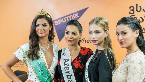 Пресс-конференция участников и организаторов международного конкурса красоты Miss & Mister Planet 2018 - Sputnik Грузия