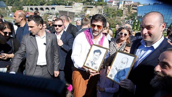 Мэр Тбилиси Каха Каладзе и премьер-министр Грузии Мамука Бахтадзе на празднике Тбилисоба - Sputnik Грузия