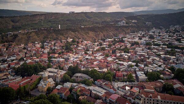 Вид на Тбилиси - аллея Сололаки, старый город и Мать Грузия - Sputnik Грузия