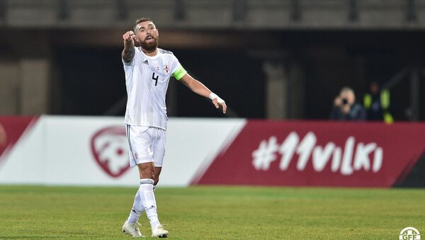 Матч сборных Грузии и Латвии в рамках Лиги наций УЕФА - Гурам Кашия - Sputnik Грузия