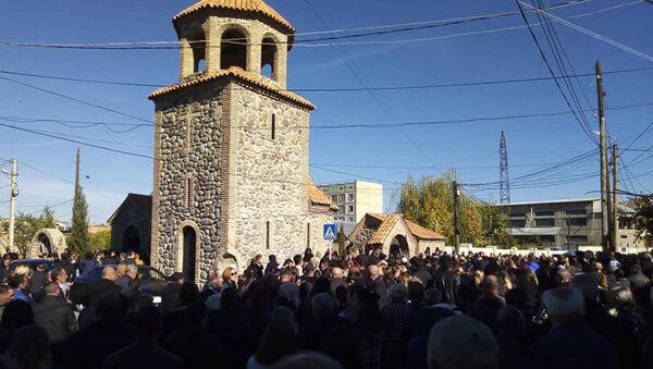 Похороны 8-летней Нани Бериашвили в Гори - Sputnik Грузия