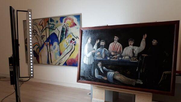 Картина Нико Пиросмани в Музее искусства K20 в Дюссельдорфе - Sputnik Грузия
