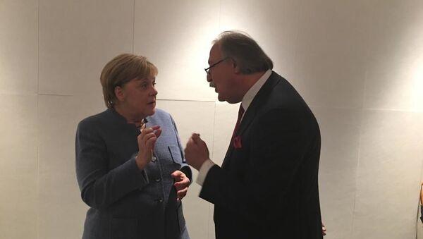 Ангела Меркель и Григол Вашадзе  - Sputnik Грузия
